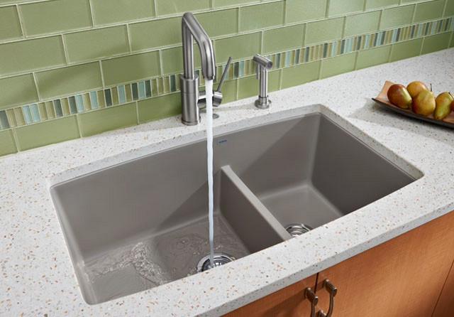 Blanco 441309 33 Inch Undermount Double Bowl Granite Sink
