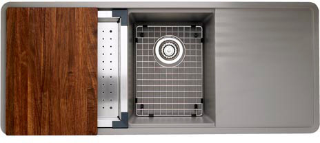 Blanco 440411 48 Inch Undermount Double Bowl Granite Sink