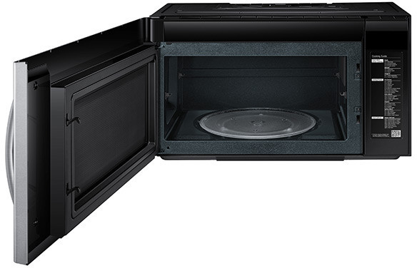 Samsung Me21h706mqs 2 1 Cu Ft Over The Range Microwave
