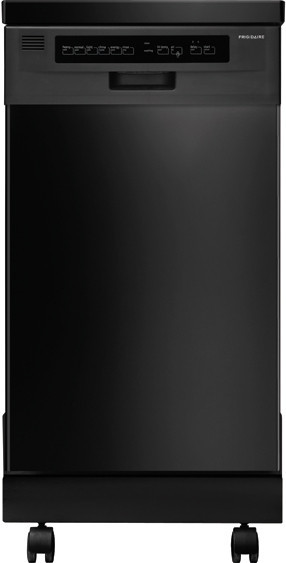 Frigidaire ffpd1821mb 18 inch portable dishwasher with 6 - Portable dishwasher stainless steel exterior ...