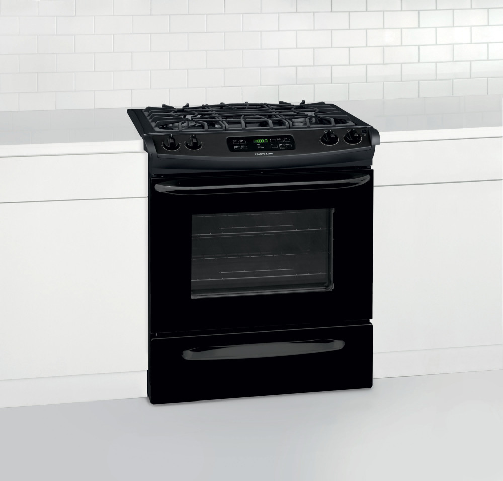 frigidaire ffgs3025pb 30 inch slide in gas range with 4 sealed burners 4 5 cu ft self clean. Black Bedroom Furniture Sets. Home Design Ideas
