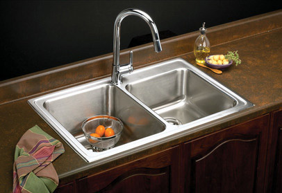 Elkay Lgr33221 33 Inch Top Mount Double Bowl Stainless