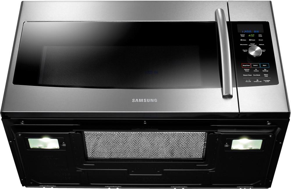 Samsung Mc17f808kdt 1 7 Cu Ft Over The Range Microwave