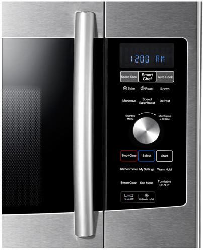 Samsung Me179kfetsr 1 7 Cu Ft Over The Range Microwave