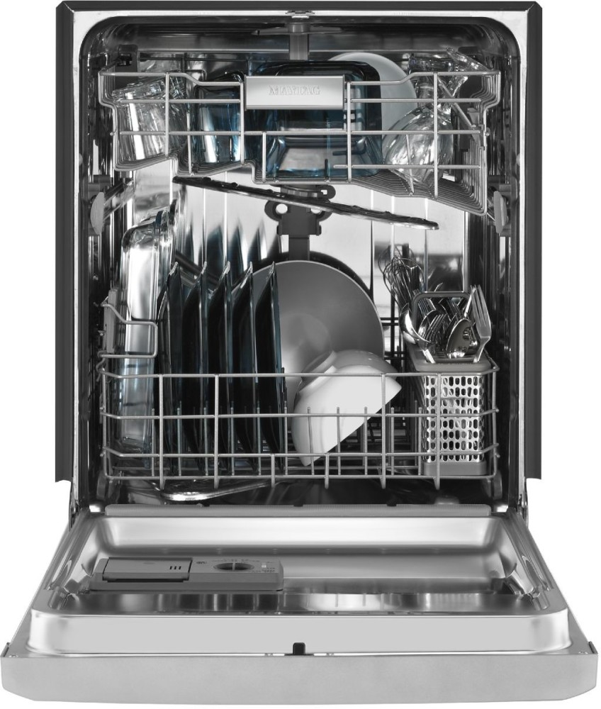 Maytag mdb7949sdh full console dishwasher with 5 wash - Portable dishwasher stainless steel exterior ...