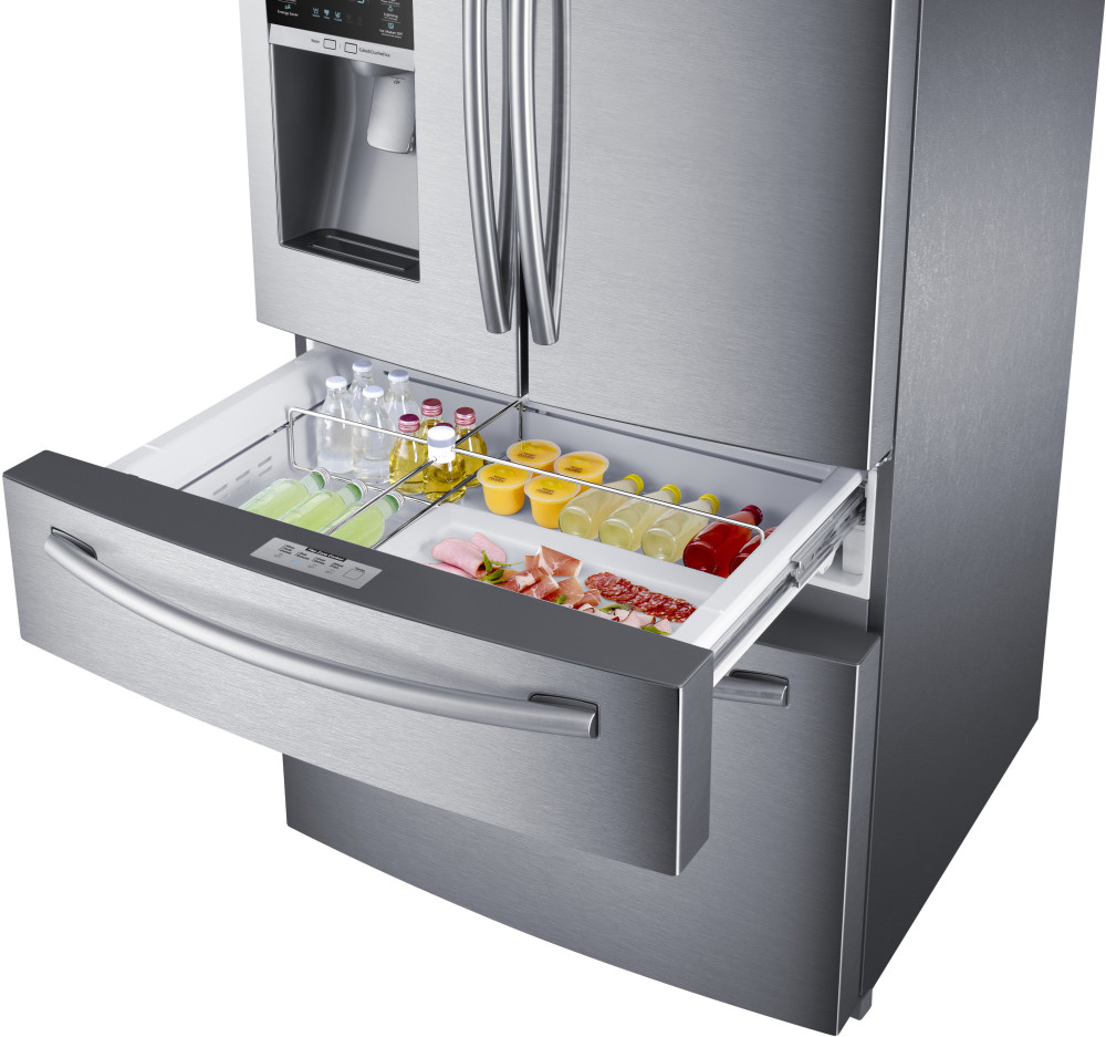 Samsung Rf28hmedbsr 36 Inch French Door Refrigerator With