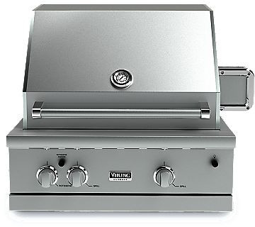 Viking vgbq53002relss 30 inch built in gas grill with 563 for Viking outdoor grill