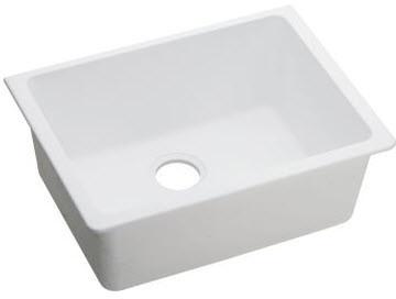 Elkay Elgu2522wh 25 Inch Undermount Kitchen Sink With 9 1