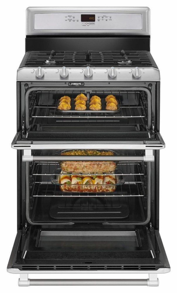 Maytag Mgt8720ds 30 Inch Freestanding Double Oven Gas