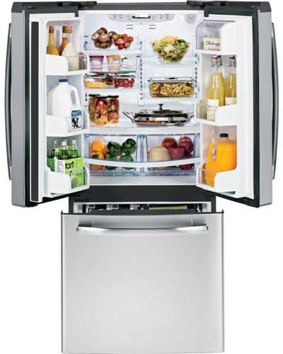 Ge Pns20kshss 20 0 Cu Ft French Door Refrigerator With 4