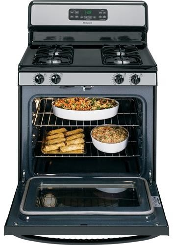 Hotpoint Rgb780rehss 30 Inch Freestanding Gas Range With 4