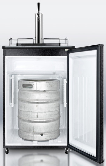 Summit Sbc501b 24 Inch Freestanding Beer Dispenser With
