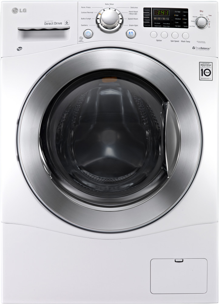 Lg Dryer Drum In The Hole ~ Lg wm hw inch cu ft electric washer dryer
