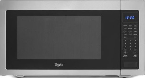 Countertop Microwave 12 Inch Depth : Whirlpool WMC50522AS 2.2 cu. ft. Countertop Microwave with 1,200 Watts ...