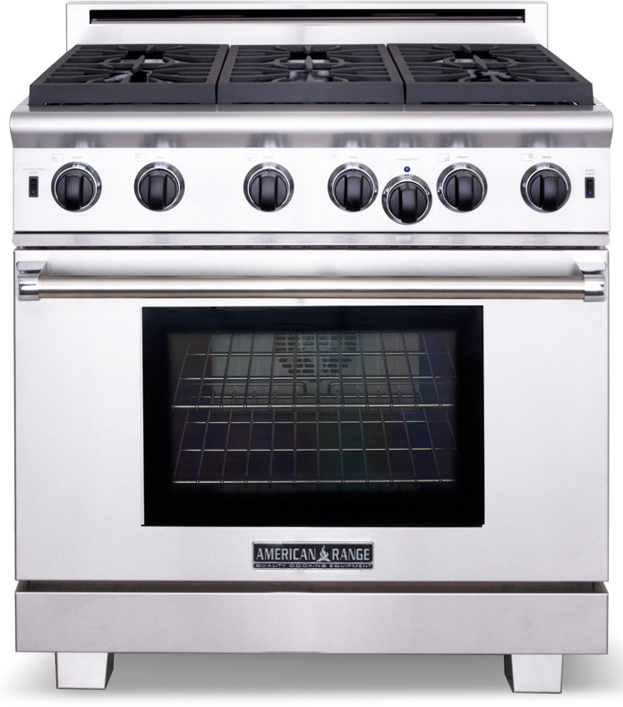 Stove With Griddle In The Middle ~ American range arrob n inch pro style gas with