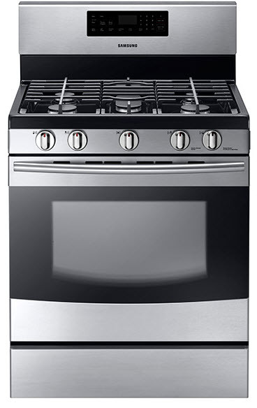 samsung nx58f5500ss 30 inch freestanding gas range with 5 sealed burners 5 8 cu ft oven. Black Bedroom Furniture Sets. Home Design Ideas