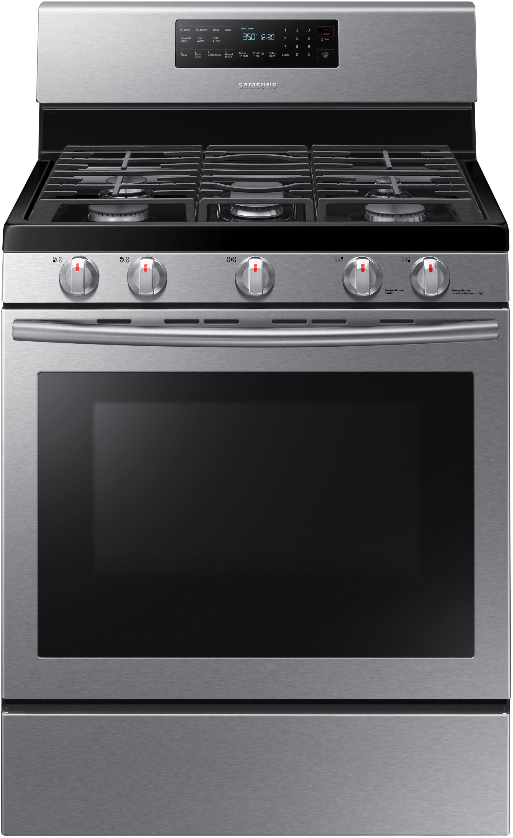 Samsung Nx58h5600ss 30 Inch Freestanding Gas Range With 5