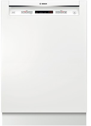 ... Sanitize Option, AquaStop Leak Protection and Recessed Handle: White