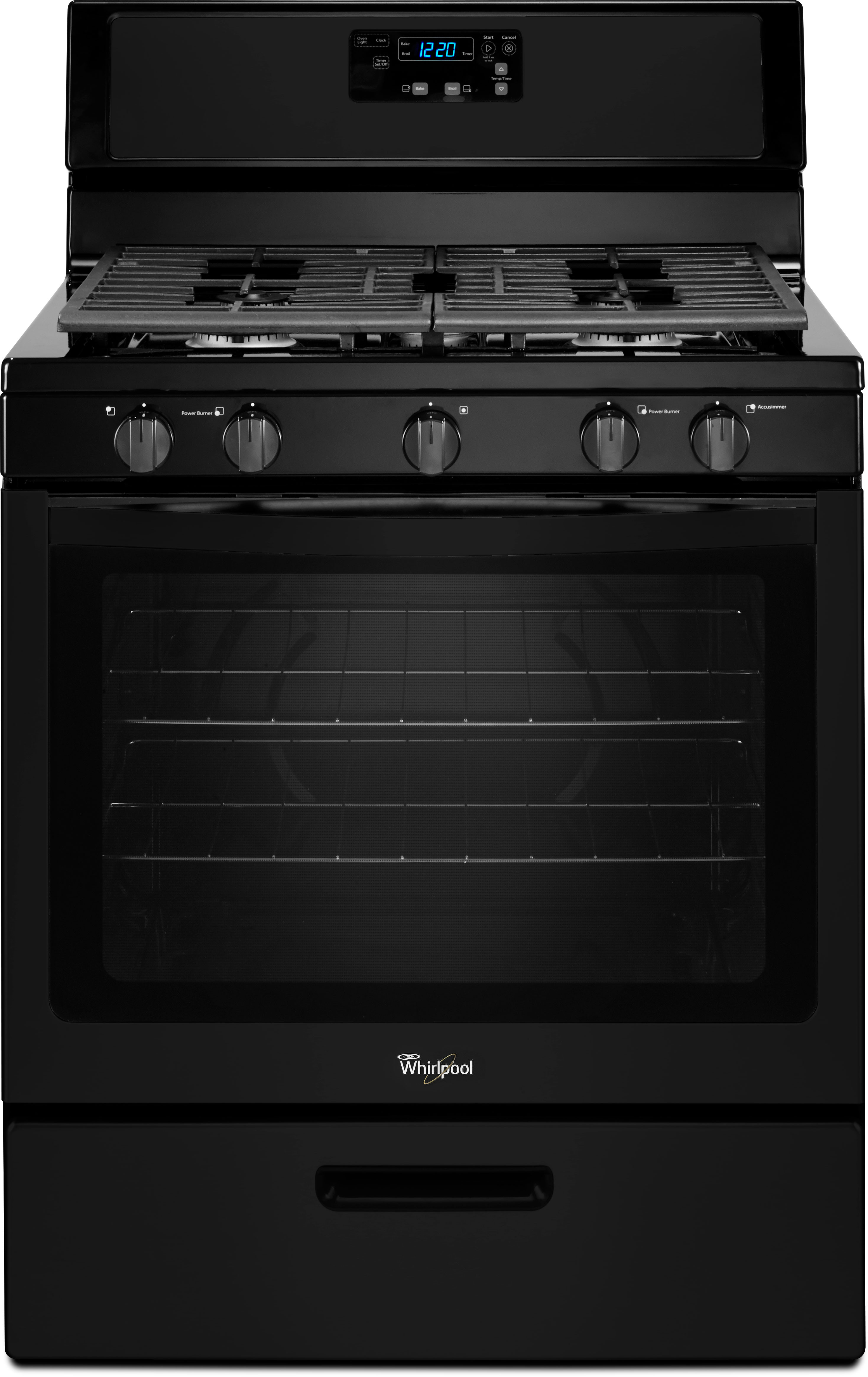 Whirlpool Wfg505m0bb 30 Inch Freestanding Gas Range With 5