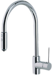 Countertop Dishwasher Hose Extension : Single Lever Pull-Down Kitchen Faucet with 20 Inch Hose Extension ...