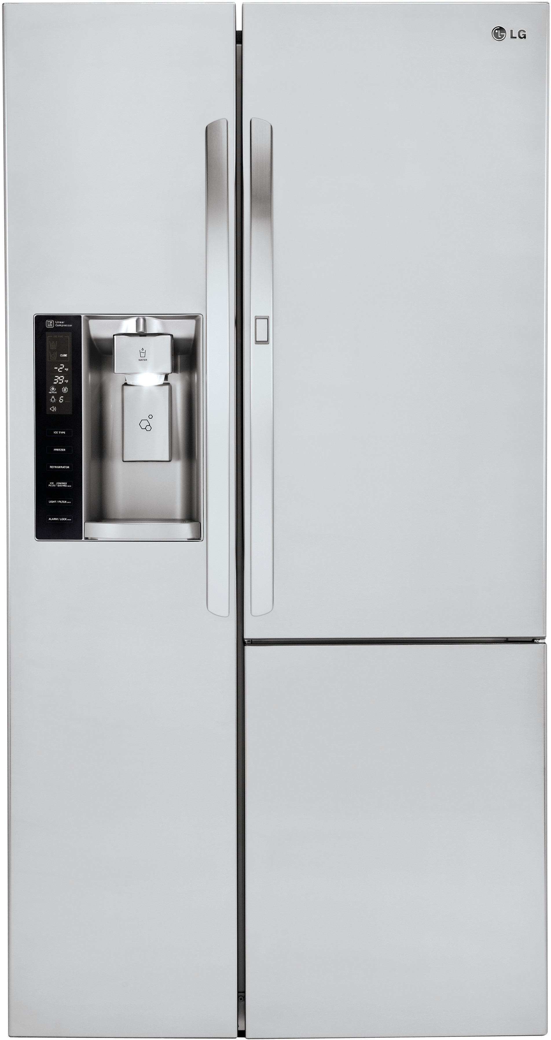 Lg Lsxs26366s 36 Inch Side By Side Refrigerator With 26 Cu