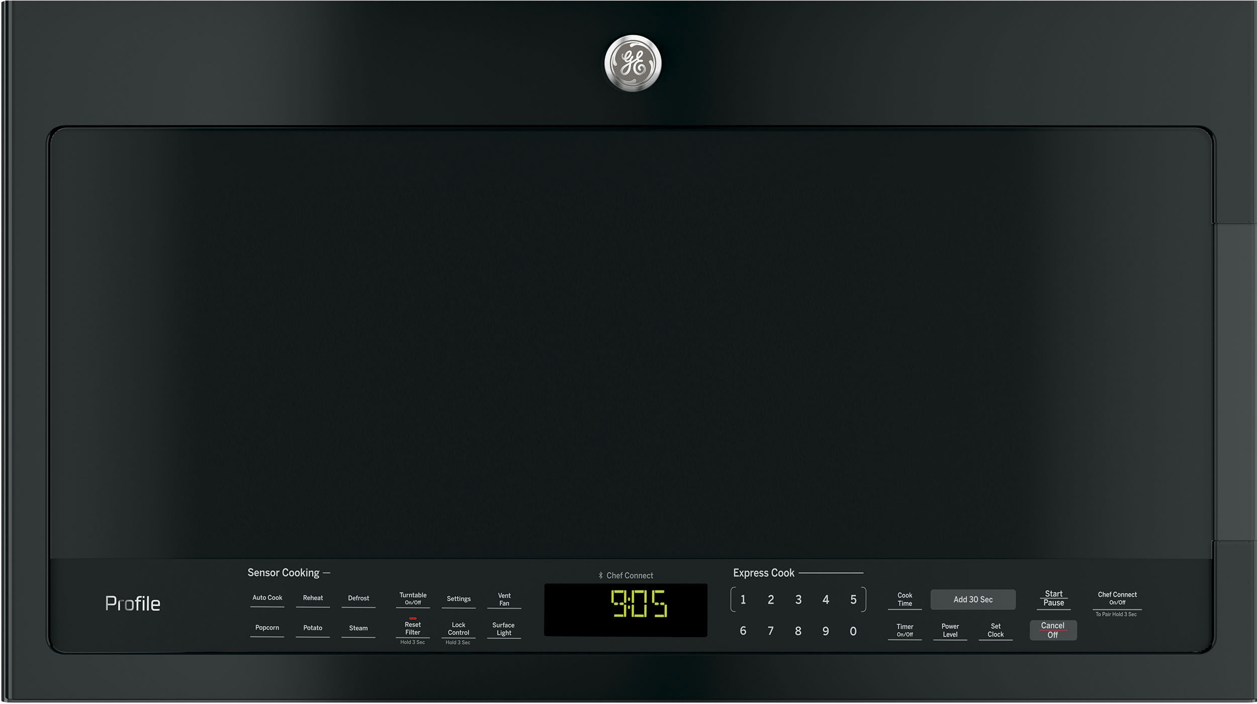 Ge Pvm9005djbb 2 1 Cu Ft Over The Range Microwave Oven