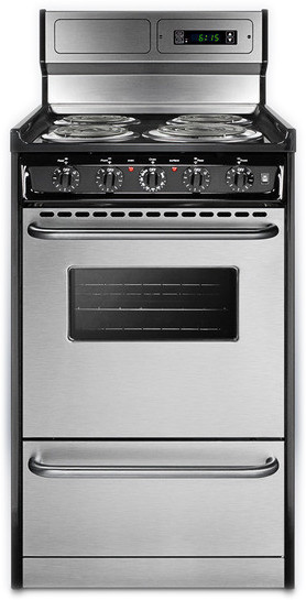 Summit Tem130bkwy 20 Inch Freestanding Electric Range With
